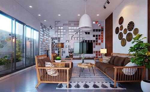 Ngôi nhà gây ấn tượng nhờ sử dụng nội thất gỗ mộc mạc